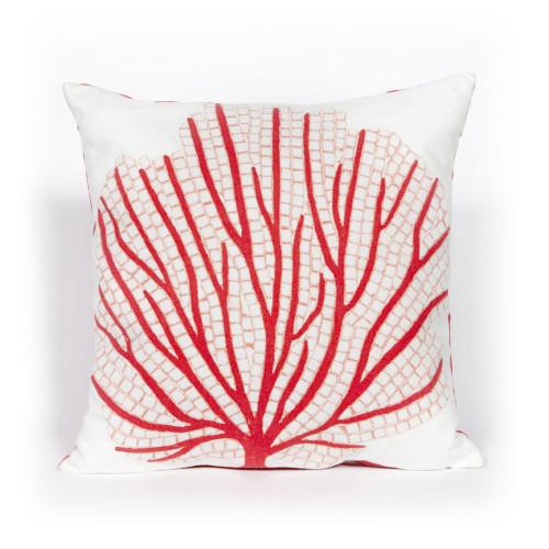 Red Sea Fan Indoor-Outdoor 20 x 20 Pillow