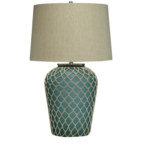 Beverly Beach Netted Glass Table Lamp
