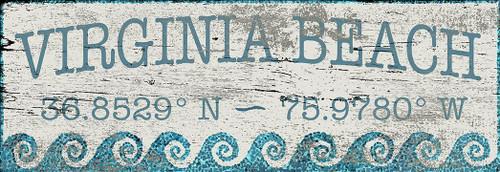 Coastal Blue Waves Custom Latitude-Longitude Art