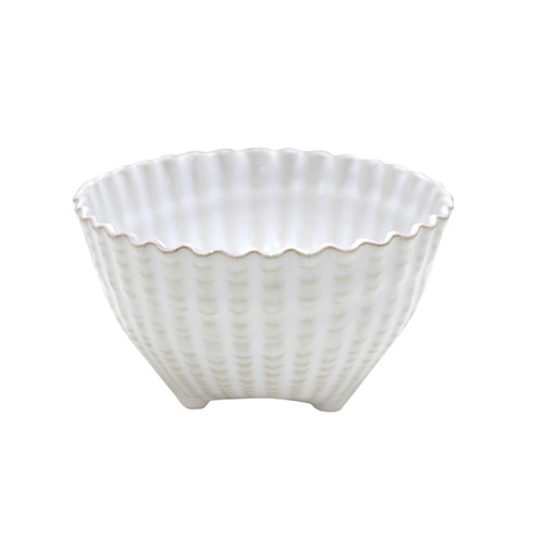 White Aparte Shell Footed Bowls - Set of Six