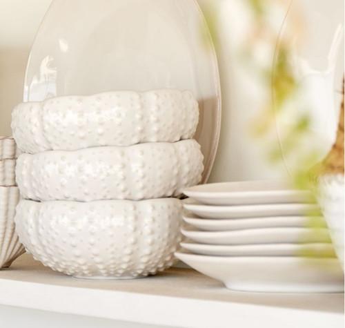 Sea Urchin Shaped White Aparte Serving Bowl shelf image