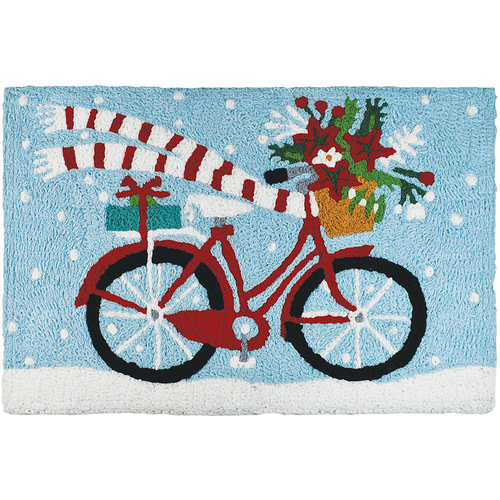Holiday Biking Accent Rug