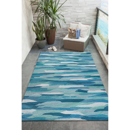Clouds over Aruba Hand Tufted Rug room view 1