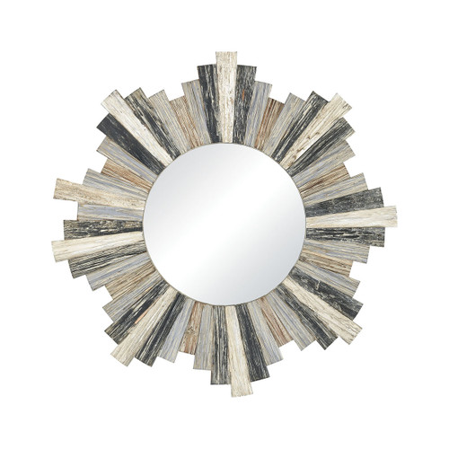 Chatham Bay Planked Round Wall Mirror