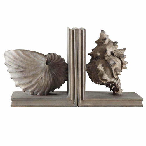 Beach Cottage Shell Bookends