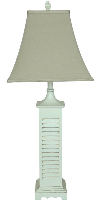 Tall Distressed Shutter Table Lamp