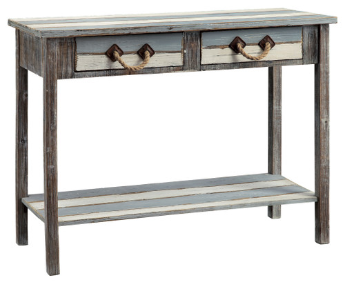 Weathered Wood Rope Console