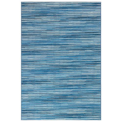Marina Blue Striped Area Rug