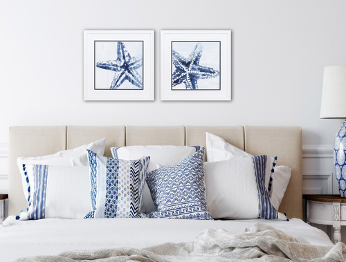 Starfish Study in Blue - Set of Two room example