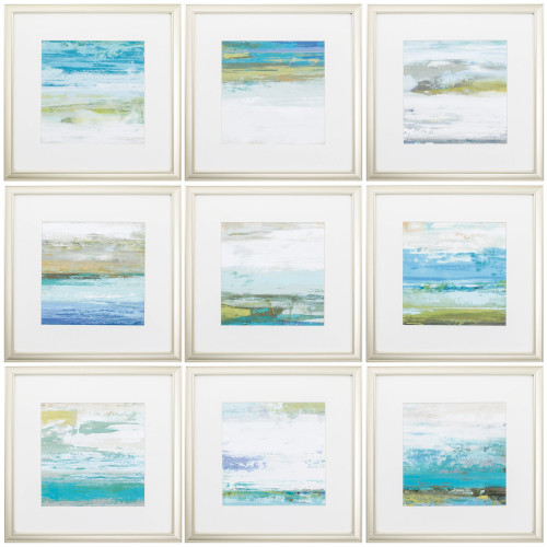 Beach Washed Framed Prints - Set of Nine