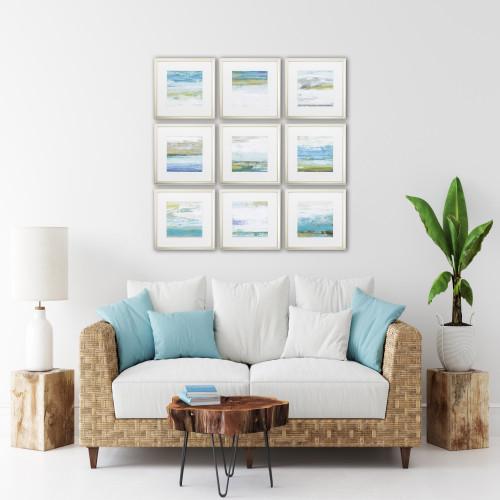 Beach Washed Framed Prints - Set of Nine room example
