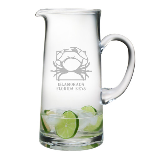 Personalized Crab Tankard Pitcher