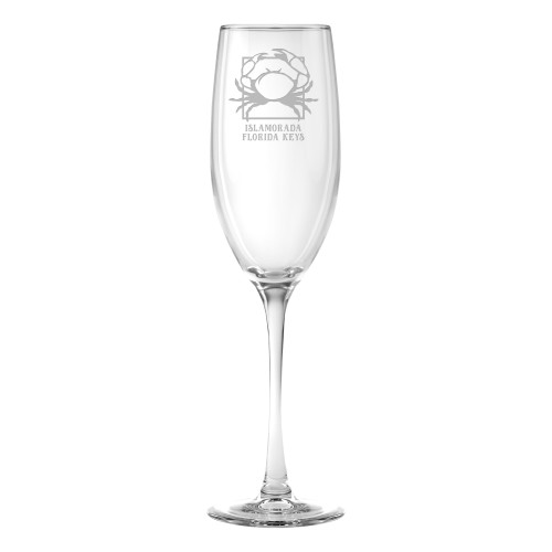 Personalized Crab Flute Glasses -Set of 4