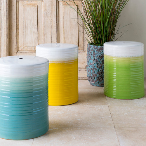 Aqua Waverly Garden Stool with other colors
