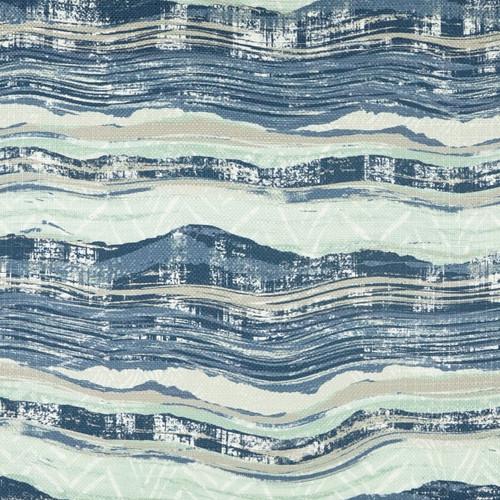 Ocean Highway Elegant Pillow close up fabric