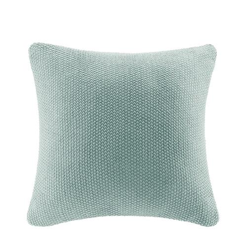 Aqua Blue Bree Knit Euro Sham