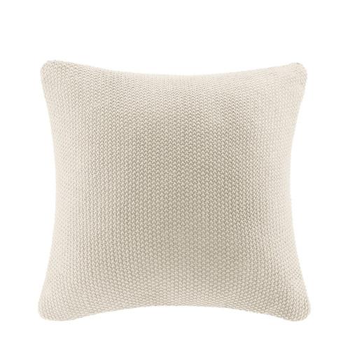 Cream Ivory Bree Knit Euro Sham
