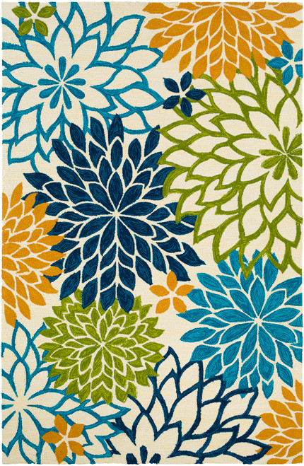By the Sea Bright Blooms Hand-Hooked Area Rug