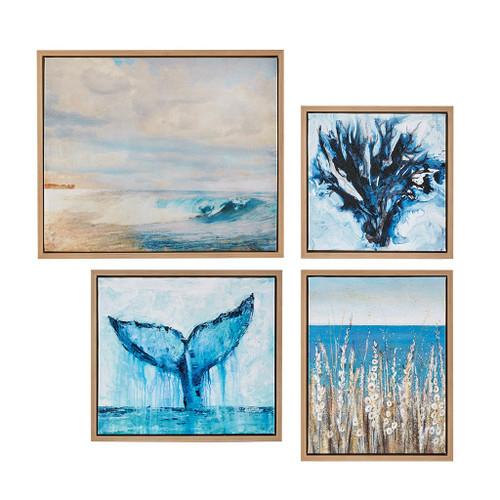 Seascape Four-Piece Framed Art Set