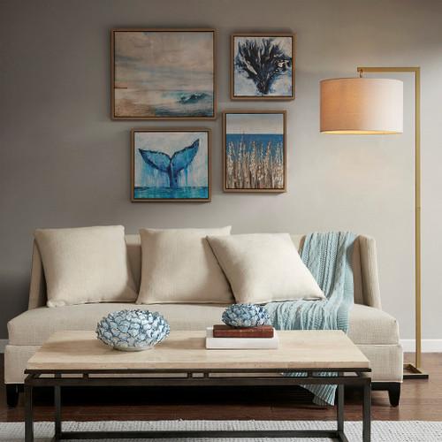 Seascape Four-Piece Framed Art Set room view