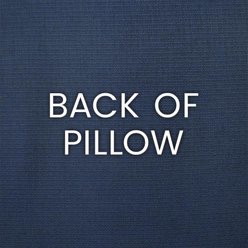 Bayview Cobalt Blue Luxury Pillow back