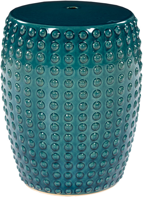 Delmar Teal Ceramic Garden Stool