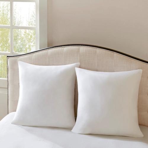Cotton Sateen Euro Pillow Insert bed view