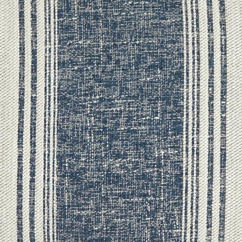 Luxury Balboa Indigo Striped Pillow close up fabric