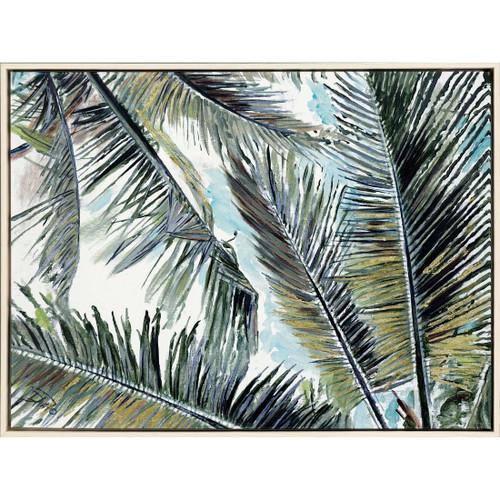 Palms in the Sky Giclee Framed Print