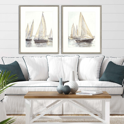 Plein Air Sailboats - Set of Two room example