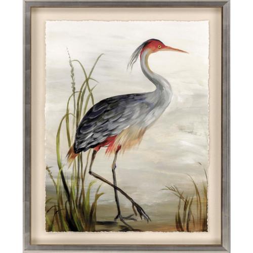 Majestic Grey Heron Art