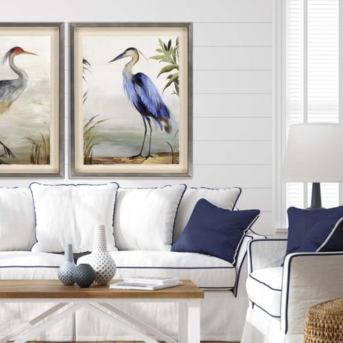 Majestic Blue Heron Art with Grey Heron
