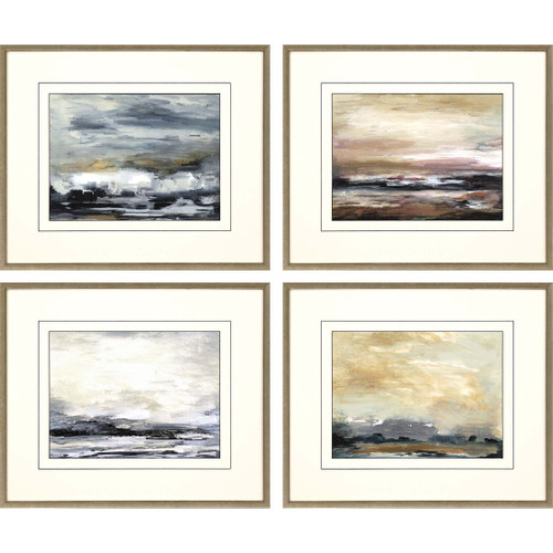 New Perspective Ocean Abstract Art - Set of Four