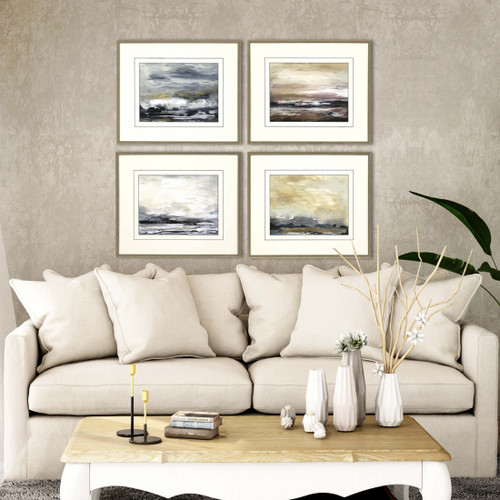 New Perspective Ocean Abstract Art - Set of Four room view