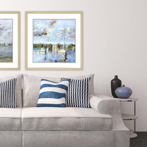 Coastal Calm Giclee shown with At Water's Edge Giclee