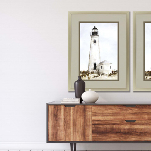 Rustic Lighthouse I Print room example