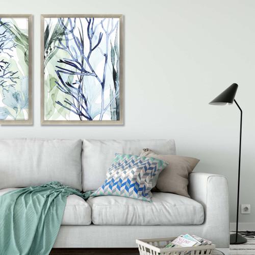 Sea Leaves II Shadow Box Framed Art room view