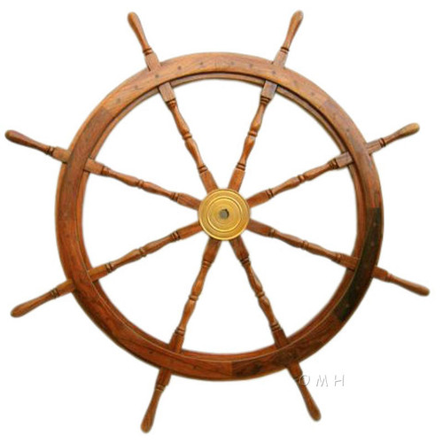 Rosewood Ship's Wheel 24 inches