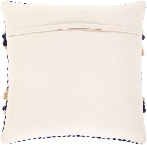 Avalon Shore Hand-Woven 22 x 22 Pillow back