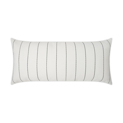 Malibu White Oblong Lux Outdoor Pillow