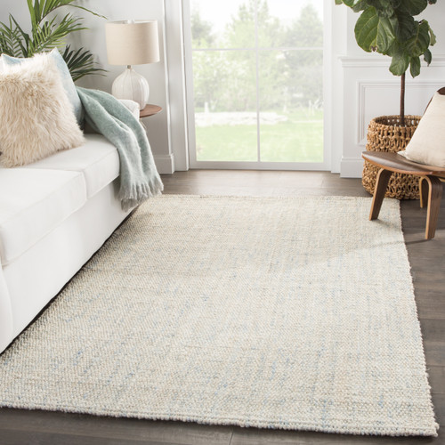 Bluffton Blues Woven Natural Jute Rug room view