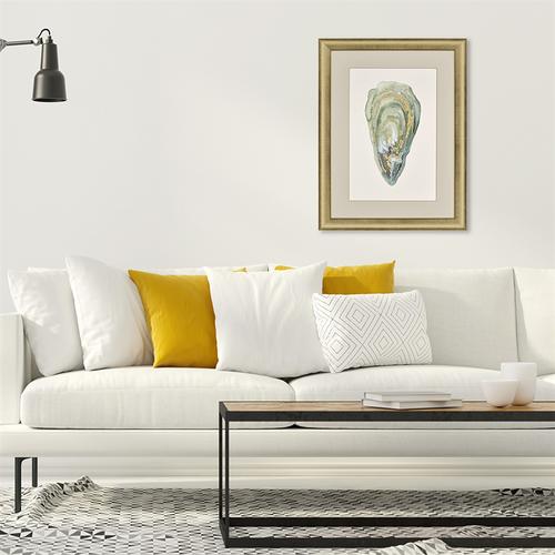 Gold Highlighted Framed Crassostrea Virginica III room view