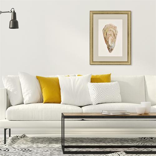 Gold Highlighted Framed Crassostrea Virginica IV room view