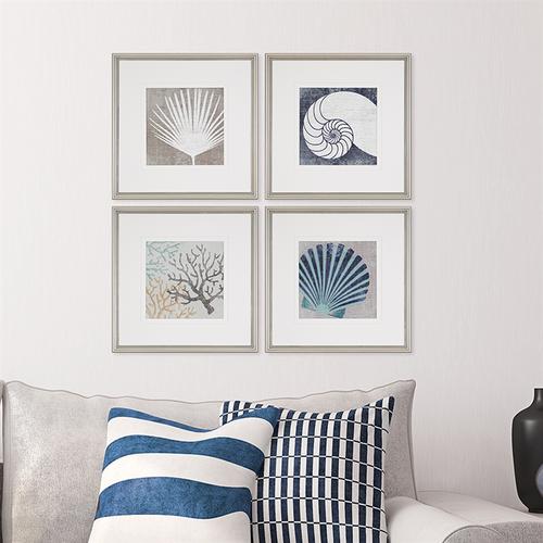 Set of Four Coastal Mod II Images room image