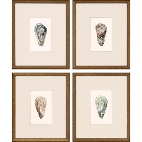 Ocean Blades Oyster Art - Set of Four
