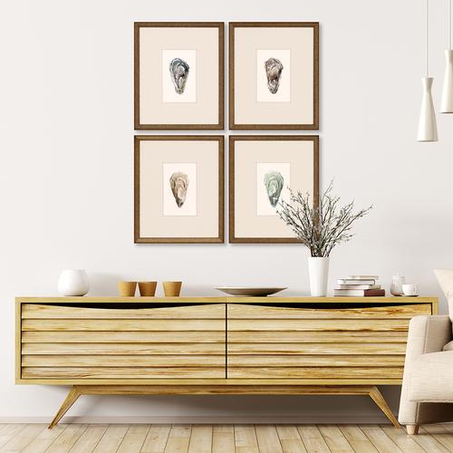Ocean Blades Oyster Art - Set of Four room image
