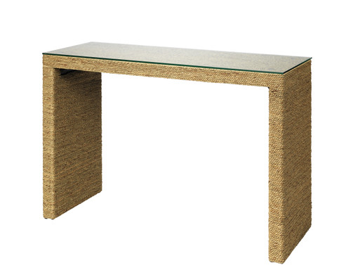 Captain Glass Topped Console Table