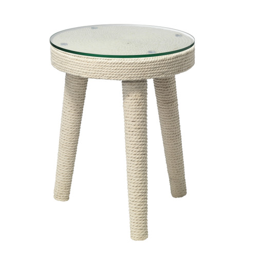 Anchor Side Table with White Rope