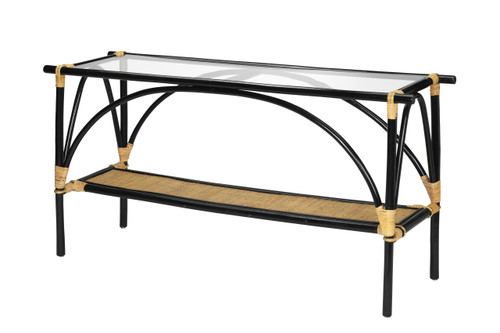Xanadu Glass Topped Console Table
