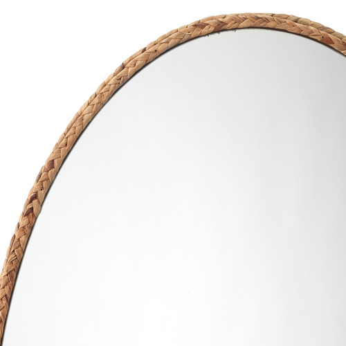 Sandpiper Braided Oval Mirror close up frame